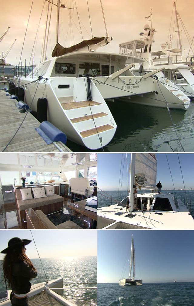 Top Billing features luxury catamaran